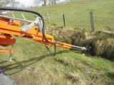 Flushing corrugated pipe on reclaimed land