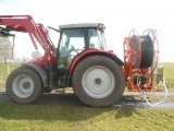 Drain flusher mounted direct on rear of tractor